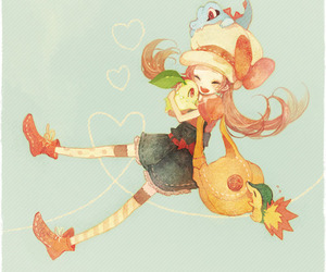 lyra, chikorita, and pokemon image