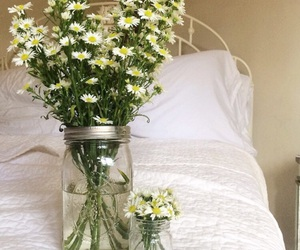 flowers, bouquet, and daisies image