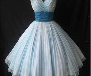 dress, blue, and vintage image