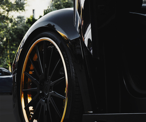 car, black, and gold image