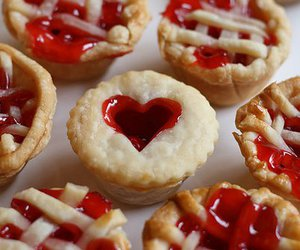 food, heart, and pie image