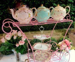 vintage, tea, and teapot image