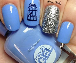 bird, cage, and glitter image