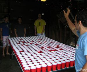 beer pong and boys image