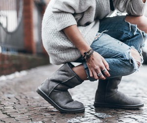 fashion, gris, and hiver image