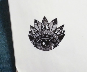 aztec, drawing, and eye image