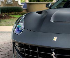 car, ferrari, and black image