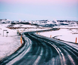iceland, mountain, and road image