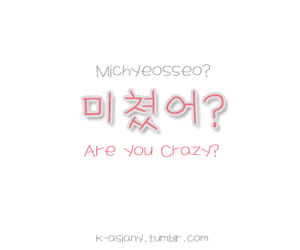 crazy, hangul, and korean image