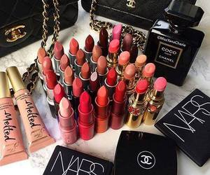 makeup, lipstick, and chanel image