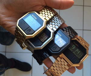 watch, Nixon, and gold image