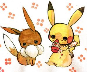 eevee, cute, and pikachu image