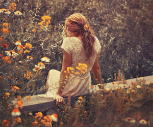 flowers, nature, and dress image