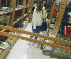 bookstore, white, and sweatter image