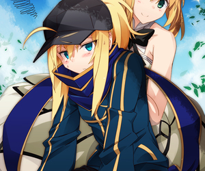anime girl, video game, and fate grand order image