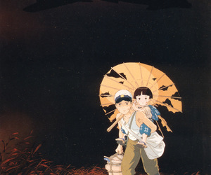 grave of the fireflies, japan, and studio ghibli image