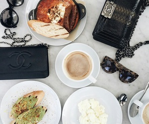 food, chanel, and coffee image