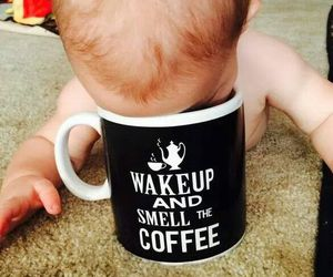 baby, love, and coffee image