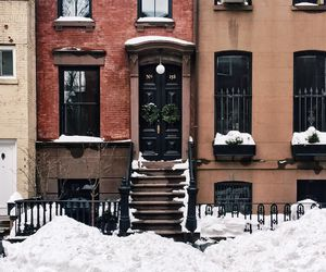 house, cold, and snow image