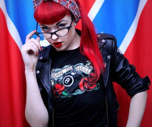 red hair and rockabilly image