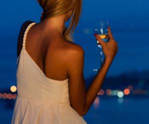 girl, dress, and night image