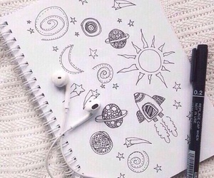 draw, notebook, and star image