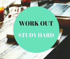workout, workhard, and studyhard image