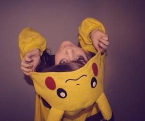girl, pikachu, and pokemon image