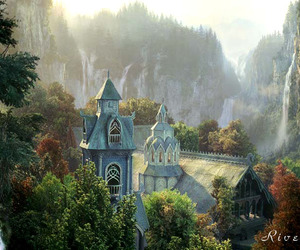 rivendell, fantasy, and tolkien image
