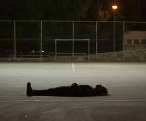 grunge, night, and alone image