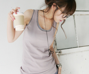 brown hair, brunette, and nail polish image