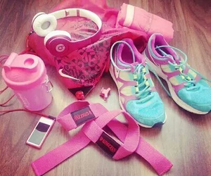 pink, fitness, and nike image