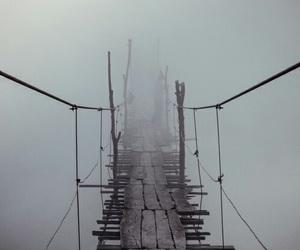 bridge and fog image