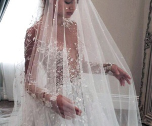 beautiful, weddingdress, and love image