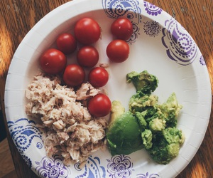 avocado, tuna, and food image