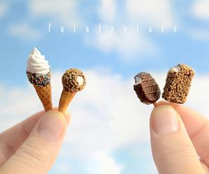 ice cream, miniature, and food image