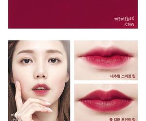 korean, pony, and red lip image