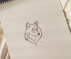 drawing, serenity, and wolf image