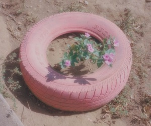 pink, flowers, and grunge image