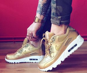 nike, fashion, and gold image