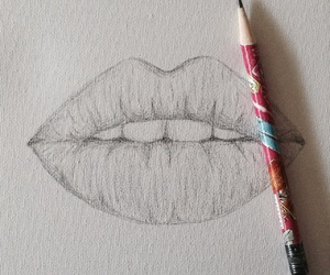drawing, lipstick, and 💋 image