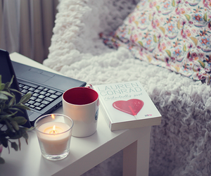 book, heart, and candle image