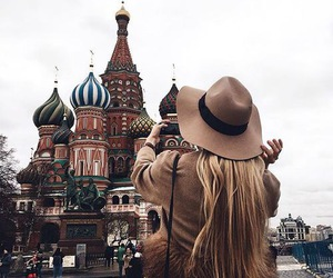 travel, russia, and moscow image