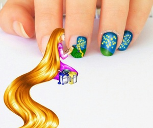 nails, rapunzel, and disney image