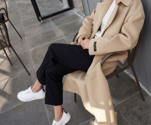 coat, girl, and shoes image
