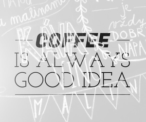 coffee, easel, and font image