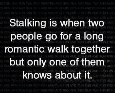 stalking, funny, and romantic image