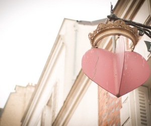 heart, pink, and crown image