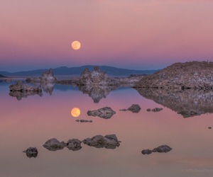 cool, moon, and landscape image
