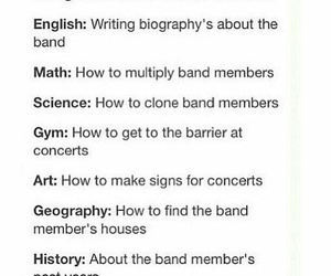 school, funny, and band image